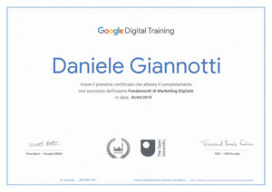 Certificazione google fondamenti marketing digitale